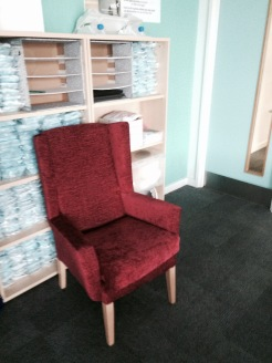 This Chair could be used to add to the scenery but could be cut out altogether.